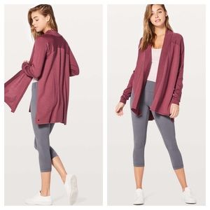 Lululemon Blissful Zen Sweater Wrap So Merlot